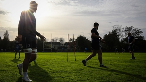 Leinster trained at UCD this morning