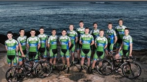The An Post Chain Reaction Sean Kelly team at their launch in Spain last January