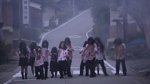 The video includes shots of zombies (Pic: YouTube)