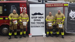 Dublin Fire Brigade personnel taking part in Movember 2017 fund-raising activities