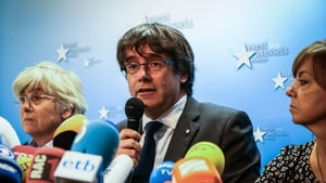 Mr Puigdemont faces up to 25 years in prison if he returns to Spain
