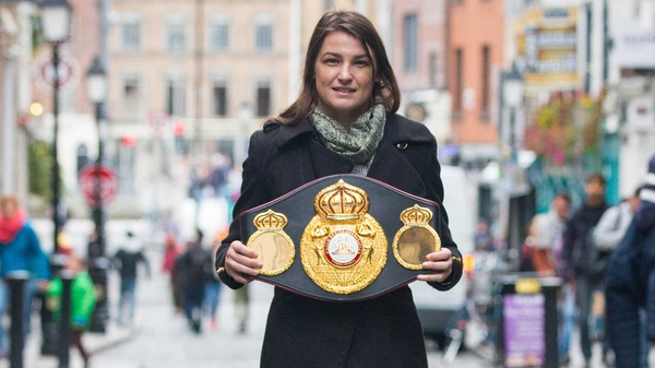 Katie Taylor: 'It was always in the pipeline to box at home in Dublin at some stage.'