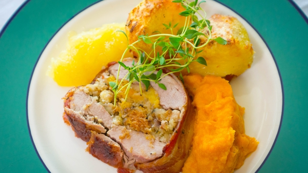 Tastes Like Home: Roast Stuffed Fillet of Pork
