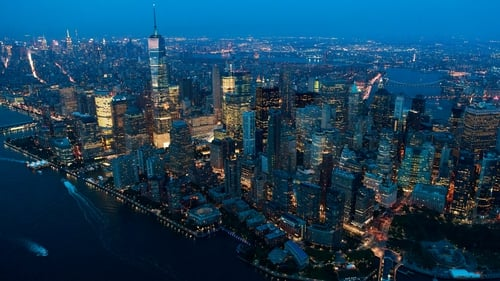 New York is one of many major cities built close to the water's edge
