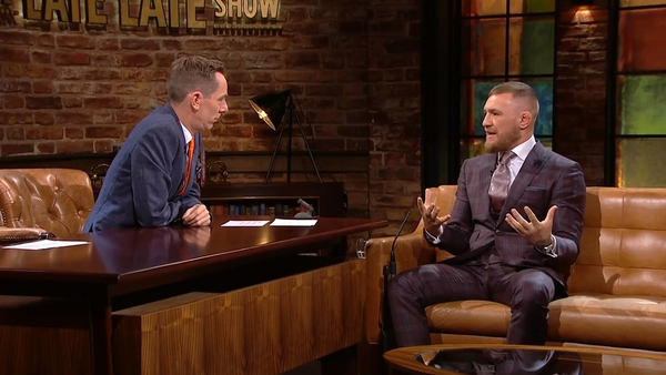 Conor McGregor in his interview for Friday's Late Late Show: