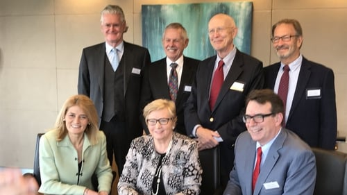 Tánaiste and Minister for Business, Enterprise and Innovation Frances Fitzgerald and other IDA Ireland executives joined members of the Theravance Biopharma board and employees at the opening