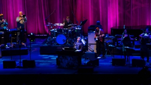 Donald Fagen lost in music at the 3Arena on Monday night. Picture credit: Pedro Giaquinto