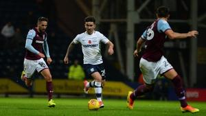 Sean Maguire started for Preston in the home defeat to Aston Villa