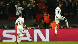 Dele Alli celebrates scoring against Real Madrid