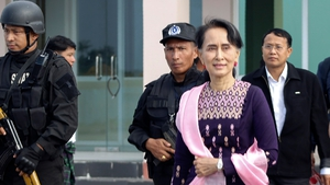 It is Aung San Suu Kyi's first trip to Rakhine State since taking office