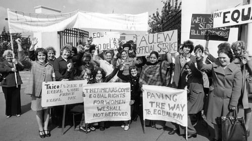 A pay equality protest in 1976 - the issue isn't going to be history any time soon