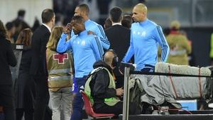 Patrice Evra hopefully won't be kicking any West Ham supporters