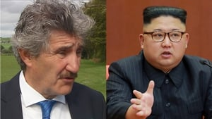 Independent Alliance TD John Halligan and North Korean leader Kim Jong-un
