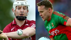 Joe Canning (l) and Andy Moran were selected by a vote from their fellow inter-county players