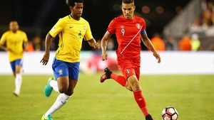 Jose Paolo Guerrero (R) will miss the play-off