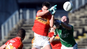 Barry Moran with Darren Beck in action in Castlebar