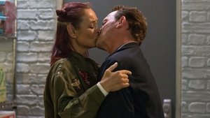 EastEnders' Tina and Billy pucker up...