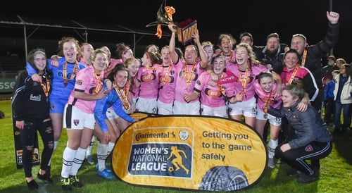 Wexford Youths celebrate winning WNL title