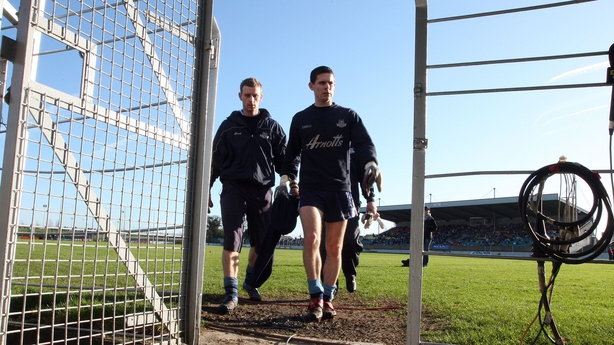 John Leonard and Stephen Cluxton pictured at the 2008 O'Byrne Cup Semi-Final Replay