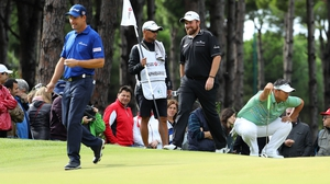 Shane Lowry and Padraig Harrington in action in Turkey