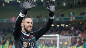 Cork City goalkeeper Mark McNulty celebrates after the final