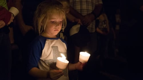 A candlelight vigil was held in Sutherland Springs last night