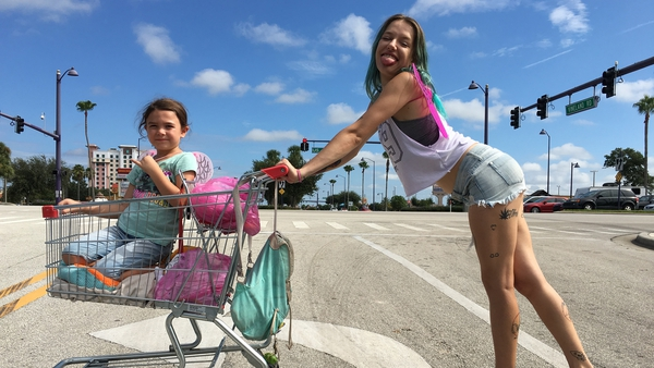 Breakout stars - Brooklynn Prince and Bria Vinaite give two of the performances of the year in The Florida Project