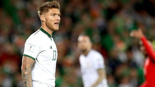 The Republic of Ireland squad took part in a training session at the FAI National Centre.