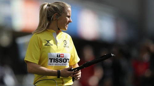 Joy Neville will break further ground as a female referee in December