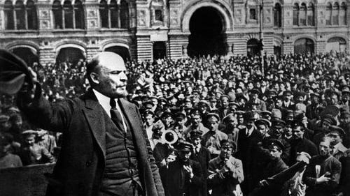 Vladimir Lenin addressing soldiers in Moscow's Red Square. Photo: Tass/PA Images