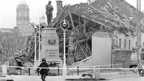 The IRA bomb was planted in a building close to the memorial