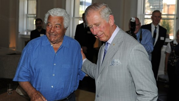Antonio Carluccio pictured with Prince Charles