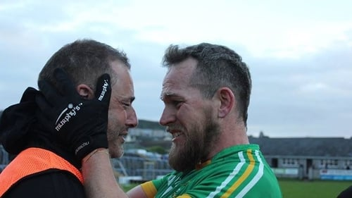 Eamon O'Hara, left, oversaw another county title for Tourlestrane