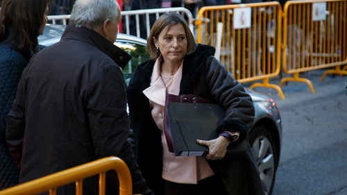 Carme Forcadell spent the night in prison while awaiting her bail payment to be be met