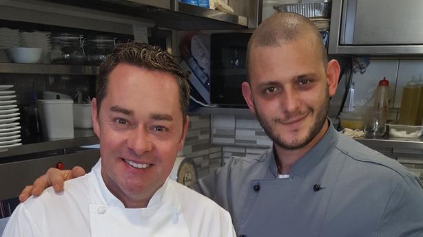 Neven and Chef Vincenzo Incoronato