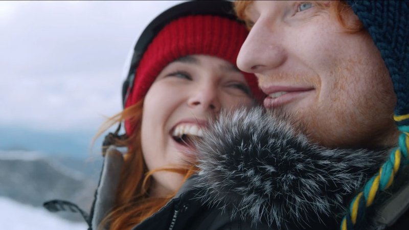 Ed sheeran is the perfect gent in new video ed sheeran and american actress zoey deutch in new video for perfect stopboris Images