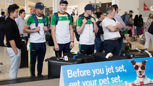 The Ireland team arriving in Adelaide