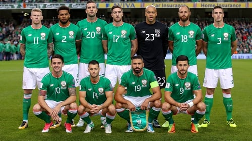 The Ireland team that lost to Serbia in September