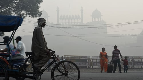 New Delhi has been covered in smog as a result of crop burning, exhaust fumes, and swirling construction dust