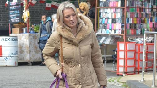 Kathy Beale tries to flee Walford after dark secret is revealed