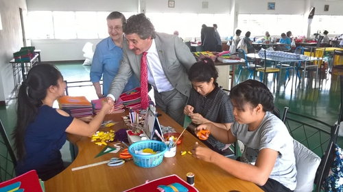 John Halligan is in Thailand on state business with the Department of Education