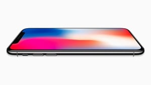 The iPhone X has a display which covers almost the entire front of the device