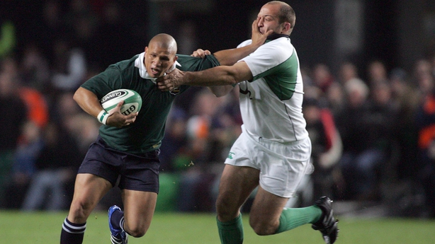 Best right takes on South Africa'sRicky Januarie in 2006 in his first start for Ireland