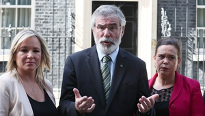Sinn Féin's Michelle O'Neill, Gerry Adams and Mary Lou McDonald spoke with the British Prime Minister Theresa May