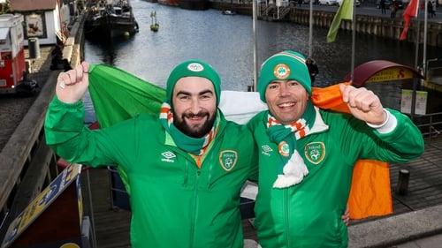 John McEnroy and Timmy Birchall are among the thousands of Ireland fans who have descended on Copenhagen for the World Cup play-off