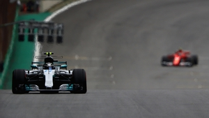 Valtteri Bottas is on pole at the Brazilian Formula One Grand Prix