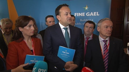 """Leo Varadkar said the Government was committed to """"turning the tide"""" on homelessness figures"""