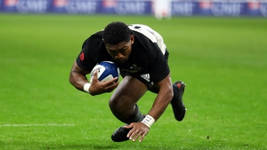 Waisake Naholo bagged two tries for the All Blacks