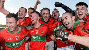 Rathnew players celebrate victory over St Vincent's