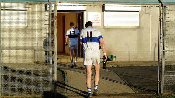 Diarmuid Connolly leaves the field after ST Vincent's were defeated by Rathnew in the Leinster club SFC quarter-final